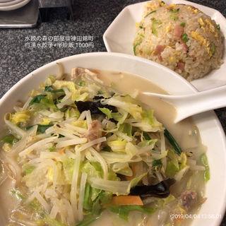 白湯水餃子+半炒飯(天鴻餃子房錦町店)