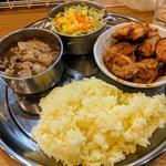 バラカリ + チキンマサラ単品(カレーの店 ガン爺)