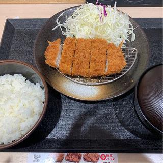 ロースかつ定食(松のや 中野坂上店)