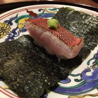 甘鯛炙り海苔巻き(徳うち山)