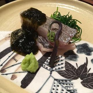 タチウオの炙りと醤油ジュレ(徳うち山)