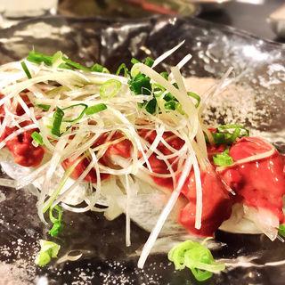 宮崎鶏の白レバ刺