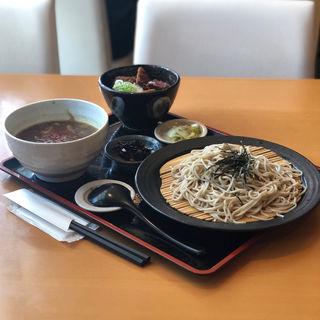 タレかつ丼とカレーせいろのセット(狸囃 本店 (タヌキバヤシ))