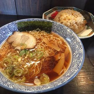 高山中華そばM+焼飯セット(鍛冶橋そば (かじばしそば))