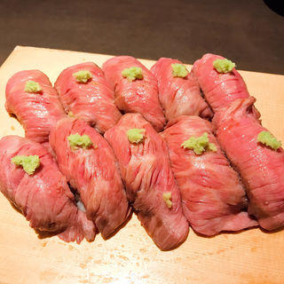 米沢牛炙り寿司(御八渋谷店)
