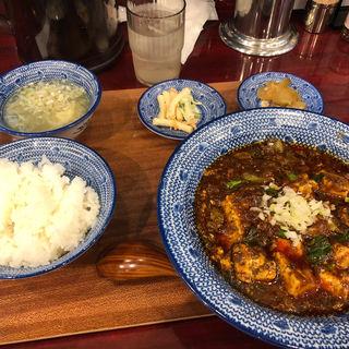 陳麻婆豆腐(自家製麺 魚担々麺・陳麻婆豆腐 dan dan noodles)