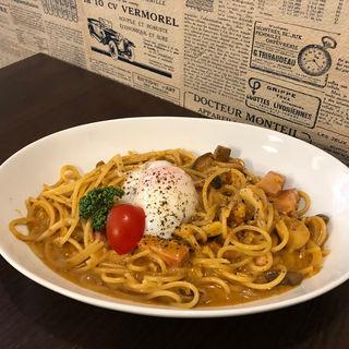 カレークリームスパゲティ(ビストロFumi )