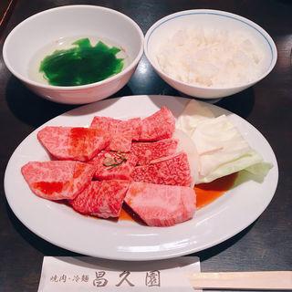 カルビ定食 (大盛り)(焼肉 昌久園 )