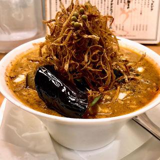 麻婆麺(箸とレンゲ)