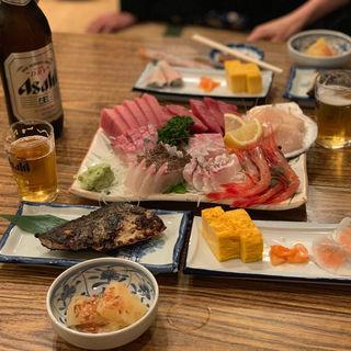 刺身盛り合わせ(魚三酒場 富岡店)