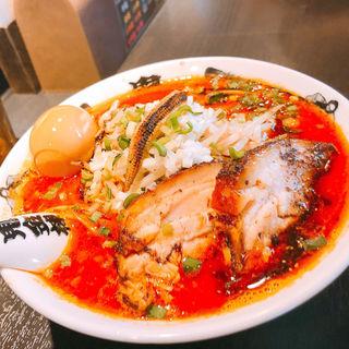 肉増しカラシビ味噌らー麺(カラシビ味噌らー麺 鬼金棒 池袋店)