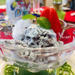 チョコミントアイスクリーム