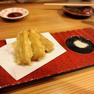 竹の子天ぷら(くずし割烹おにかい)