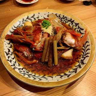 金目鯛カブト煮付け(くずし割烹おにかい)