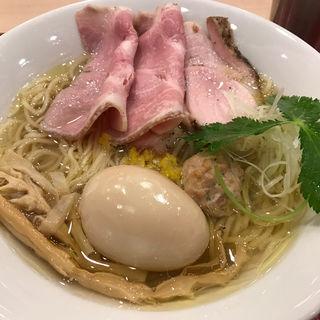 イリコそば(麦と麺助 新梅田中津店)