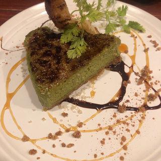 抹茶のチーズケーキ(ミカンバコ )