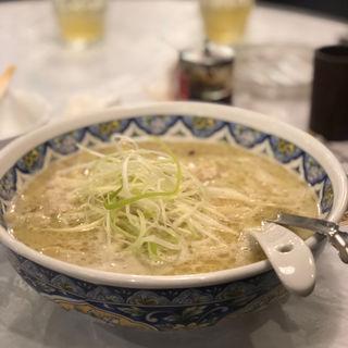 揚州濃厚塩ラーメン(刀切麺+濃厚2倍)