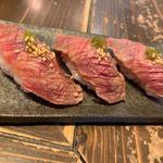 炙り肉寿司 牛トロ