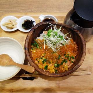 鮭といくらの北海ごはん(こめらく 贅沢な、お茶漬け日和。 博多デイトス店)