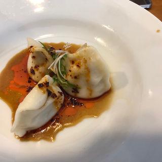 紅油水餃子セット 3ケ(小ライス付)(蜀香 担担麺)