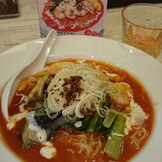海老トマト冷麺(太陽のトマト麺 福島駅前支店 )