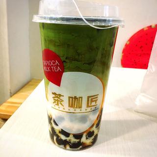 抹茶黒糖ミルクラテ(茶咖匠 野方店)