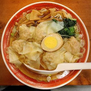 夕食雲呑麺