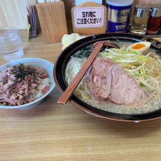ネギチャーシューラーメン中(ラーメン青木亭 草加店)