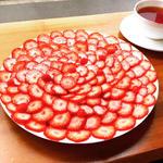 苺のクレープ+ティー