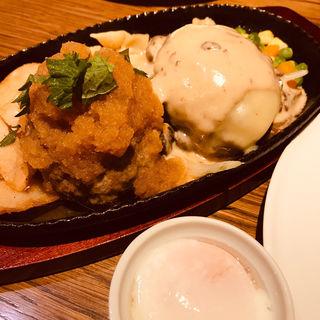 ハンバーグ ダブル(ビストロ 熟肉 (なれにく))