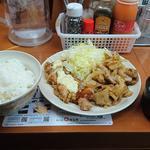 若鶏南蛮&豚肉甘辛炒め定食(お肉増量+ご飯大盛り)
