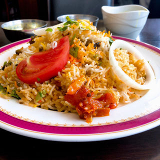 ラムビリヤニ(カーンケバブビリヤニ (Khan kebab biryani))