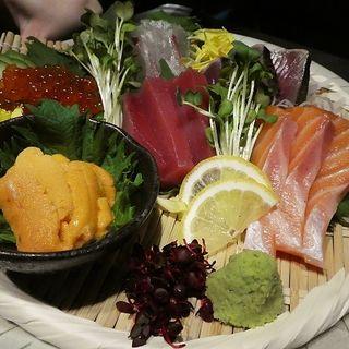 鮮魚のお造り五種盛り
