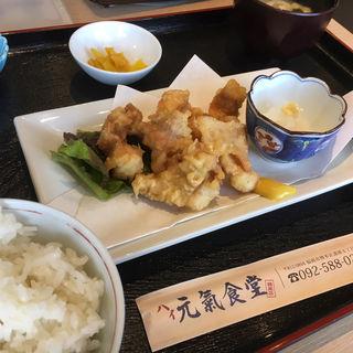 鶏天定食(ハイ元氣食堂 博多区諸岡店)