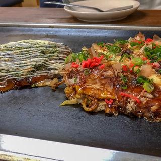 広島焼き&油かすネギ焼(朝日堂 )