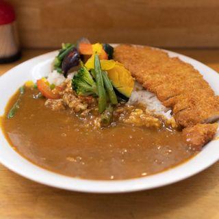 野菜カレー+カツ 辛さ5倍(モジャカレー 姫路駅店 )