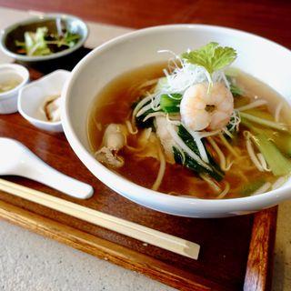 あっさり台湾風汁そばセット(中華厨房 トクチャイナ)