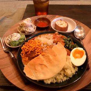 混ぜカレー定食(ひとところ カフェ (hitotocolo cafe))