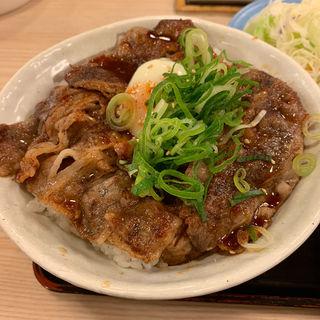 お肉どっさり新作焼き牛めし(大盛)(松屋 国立店 )