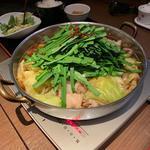 もつ鍋定食 (しょうゆ)
