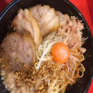 ミニまぜそば(豚 1枚)+マヨネーズ+にんにく・あぶら(麺屋 桐龍 (めんや きりゅう))