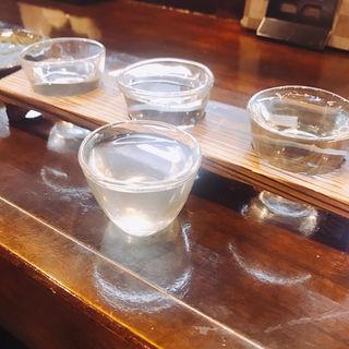 日本酒3種飲み比べ(居酒屋割烹 おおつか)