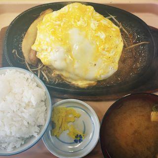 オムレツバーグ定食(うしや )