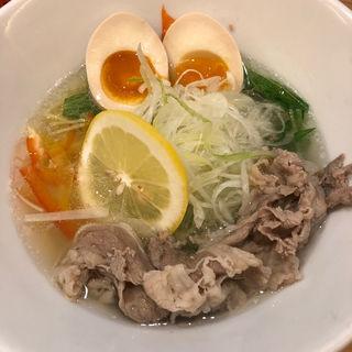 牛骨塩ラーメン+玉子(人情麺家 牛骨王 )