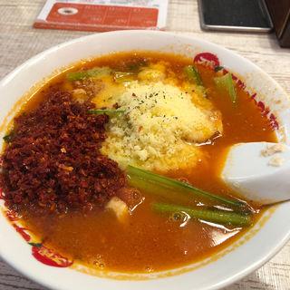 太陽のチーズラーメン+3辛(太陽のトマト麺 福島駅前支店 (たいようのとまとめん))
