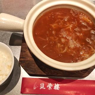 頂上麺セット(頂上麺 筑紫樓 ふかひれ麺専門店八重洲店 (チョウジョウメン ツクシロウ))