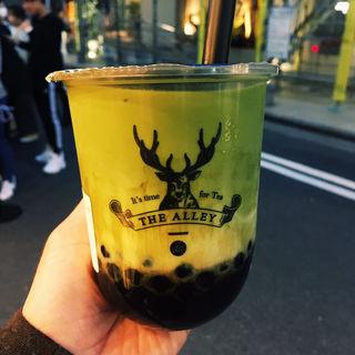 黒糖抹茶ラテ(THE ALLEY 天神店)