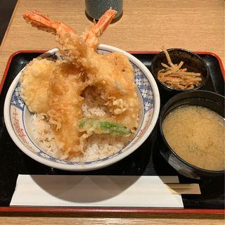 はみ出し大海老天丼(天ぷら けやき 東京駅キッチンストリート店 )