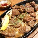 牛肉のレモンステーキ