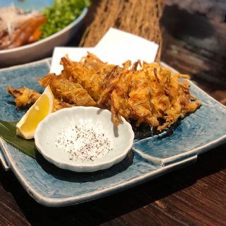 もずくの天ぷら(沖縄料理 うみそら )